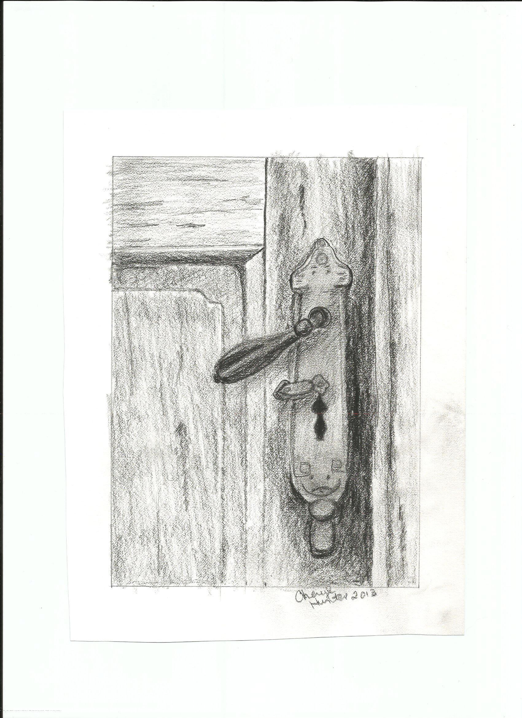 Door pencil drawing - Door Handle Pencil Door Drawing 198437040 Door Ideas